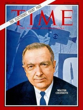 TIME magazine cover featuring Walter Cronkite