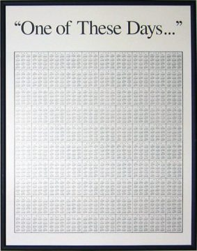 "The ""One of These Days..."" 100-Year Poster-Calendar - Lifetime At A Glance"
