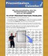 ProcrastinatorsCalendar.com home page screenshot from 2010