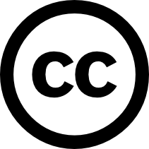 "Creative Commons symbol - a circle with letters ""CC"" inside"