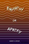 The word, EMPATHY, flows within a stack of wavy lines, without cutting into the contour. The word, APATHY, droops across a stack of straight lines, cutting through several of them.