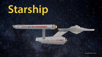 Side view of Starship, Enterprise