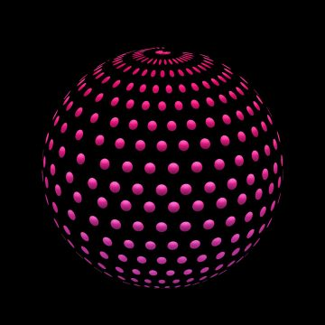 sphere made up of dots